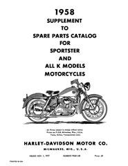 Harley K Model: Literature: Spare Parts Catalogs